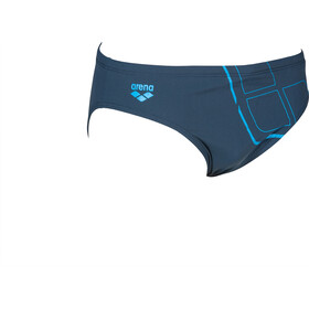 arena Essentials Zwemslip Heren, shark/turquoise